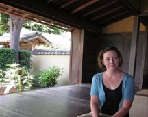 Jennifer Weber at Daishin-in temple in the Myoshin-ji temple complex, Kyoto, Japan 2011